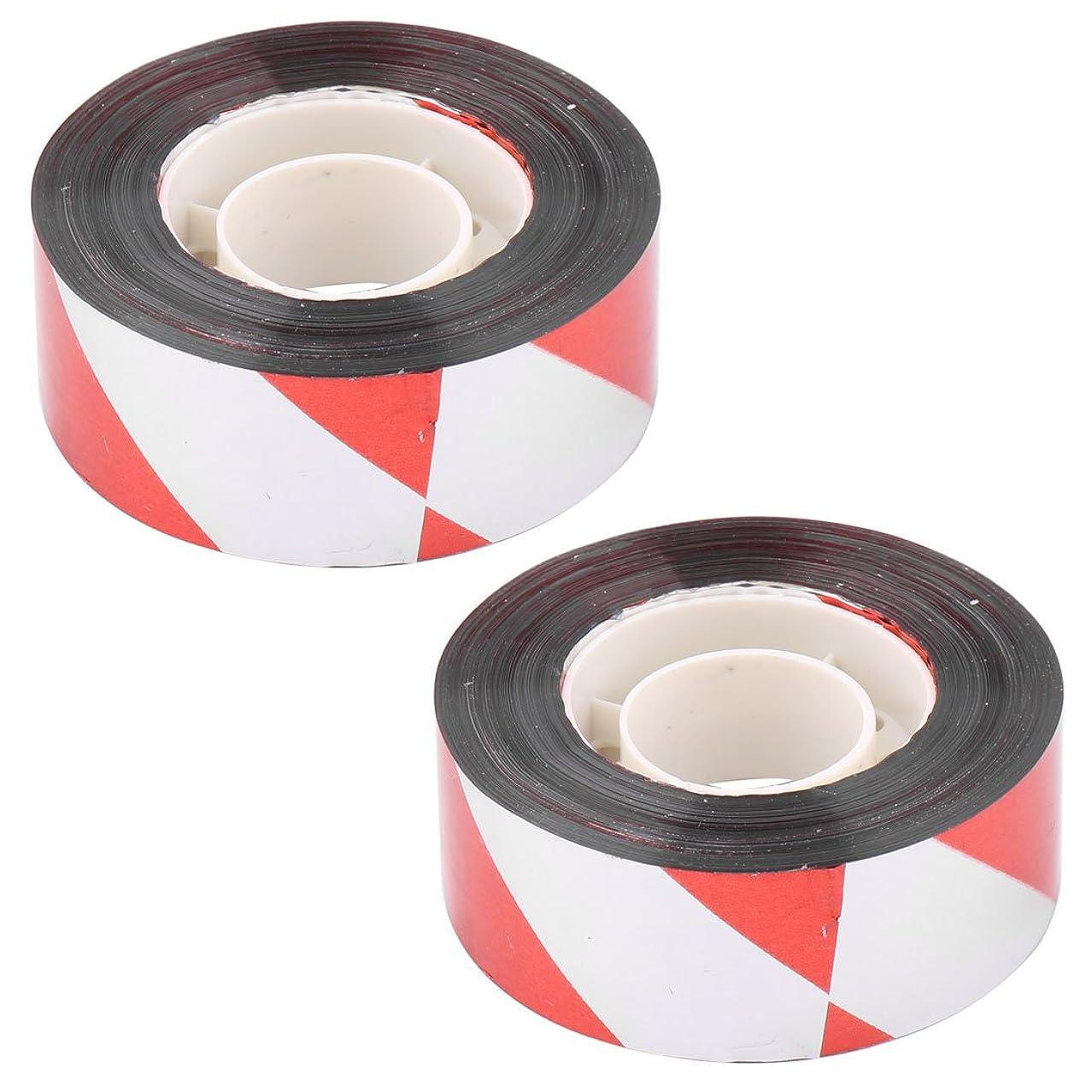 ツール市区町村バッジuxcell 抑圧テープ 農地 バード パニック ホログラフィック フラッシュ サウンド 発光 テープ イエロー 100M 2 個入り パターン3