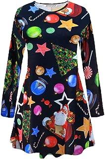 Mesdames femmes manches longues imprimé léopard robe Swing Patineuse Évasée Femme taille 8-26