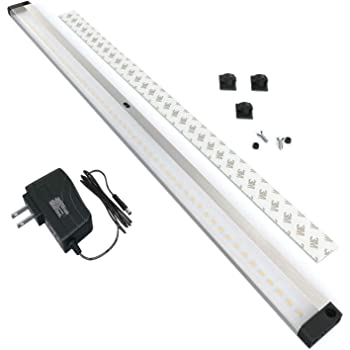 EShine LED Dimmable Under Cabinet Lighting - Extra Long 20 Inch Panel, Hand Wave Activated - Touchless Dimming Control, Cool White (6000K)