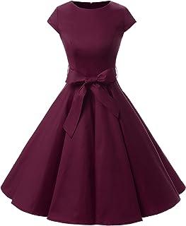 5cdbd187b8f Dressystar Women Vintage 1950s Retro Rockabilly Prom Dresses Cap-Sleeve