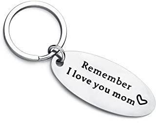 XYBAGS Mother's Day Keychain Gifts from Daughter Son - Remember I Love You Mom - Birthday Christmas Gift for Mom