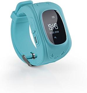 EASYmaxx Barn smartklocka med GPS-funktion   Smartwatch för pojkar och flickor med GPS, SOS-telefon, platslokalisering, sp...