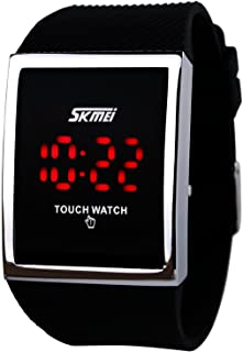 Touch Screen Digital LED Waterproof Boys Girls Sport Casual Wrist Watches Black