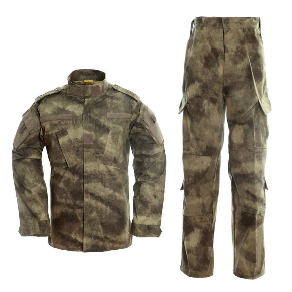 QIKAI Ropa táctica Táctico Camuflaje Traje de Combate Exterior Traje Militar Exterior ejército Fan CS Ropa Camisa + Pantalones C-XS: Amazon.es: Hogar