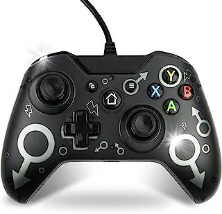 XboxOneコントローラー有線USB接続コントローラー XboxOne有線ゲームパッド XboxOneX/boxOneS/XboxOneX/PC対応 振動 ヘッドホン機能搭載