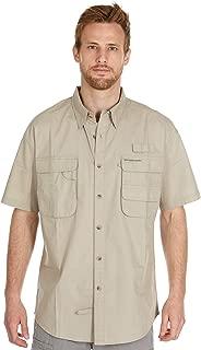 Baits Fishing Company | Men's Performance Fishing Shirt | Short Sleeve | Button Down | Vented | 100% Cotton