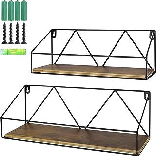 UMI. by Amazon Estantes flotantes rústicos de Madera para baños Salas de Estar o cocinas Set de 2