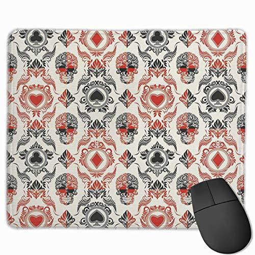 Rutschfeste Gummimaus-Spielmatte mit Spielkartenmotiv für Desktops, Computer, PCs und Laptops 30x25 cm