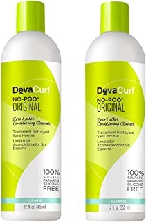 Devacurl No-Poo Original Cleanser, 12oz (2 Pack)