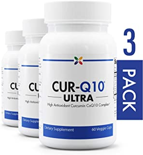 3-Bottle Pack - High Antioxidant Curcumin CoQ10 Complex - CUR-Q10 Ultra Curcumin CoQ10...
