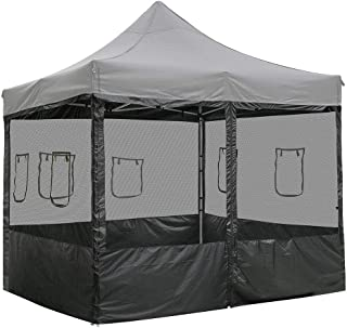 Yescom EZ Pop Up 10 ft Canopy Tent Mesh Side Wall Party Tent Shelter Sidewall Tradeshow with Window (Pack of 4)