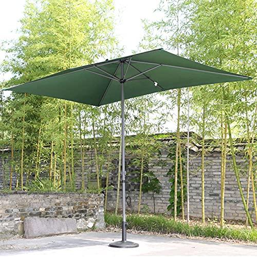 LIUU Sombrilla Rectangular,Sombrilla Jardin Exterior Grande,Sombrillas Terraza 3mx2m,Manivela/Ventilación,Impermeable/Protector Solar,Tres Colores