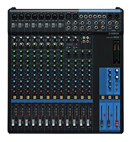 YAMAHA MG16Mix and Produktion Analog 16Kanäle 20–48000HZ schwarz–Tische Mischpult Audio (16Kanäle, 20–48000HZ, 78dB, 30W, 100–240, 50–60)