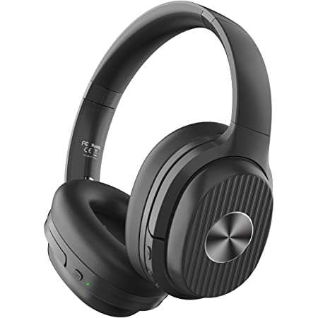 EKSA Active Noise Cancelling Headphones Bluetooth 5.0, 60 Hrs Playtime, Wireless Headphones with Quick Charge CVC 8.0 Mic Soft Earpads HIFI Deep Bass Bluetooth Headphones Over Ear for Business Travel