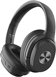 EKSA Active Noise Cancelling Headphones Bluetooth 5.0, 60 Hrs Playtime, Wireless Headphones with Quick Charge CVC 8.0 Mic ...