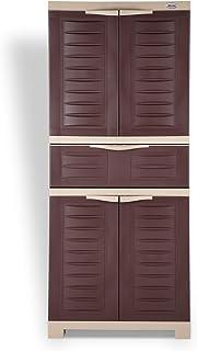 Supreme Fusion-2 MDR 1 Plastic Cupboard/Cabinet Globus Brown/Dark Beige,4 Doors