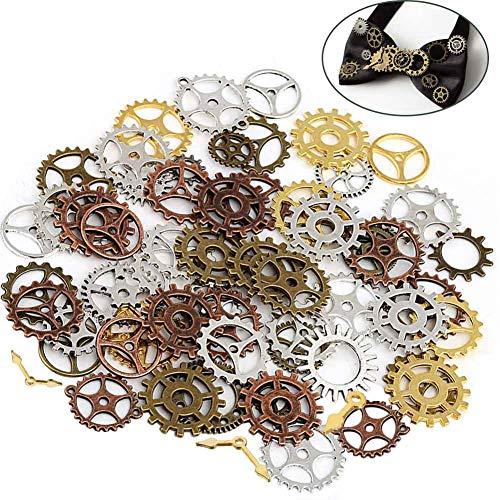 Steampunk Engranajes,BESTZY 200 Gramos Engranajes Steampunk Manualidades para Relojes y Manualidades de Bricolaje Accesorios Decorativos - Alrededor 120 Piezas (Colores Patrones al Azar)