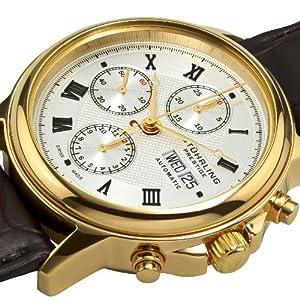 Stuhrling Prestige Men's 362.333K2 Swiss Made Accolade Mechanical Leather Alligator Strap Watch