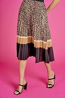 Valleygirl Leopard Pleated MIDI Skirt (324949)