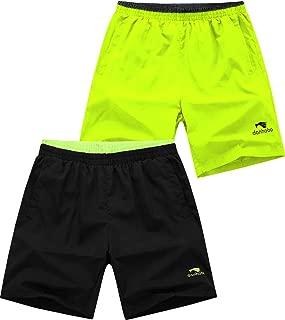Mens Light Weight Gym Workout Running Solid Sport Shorts