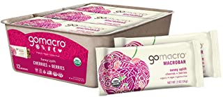 Sponsored Ad - GoMacro MacroBar Organic Vegan Snack Bars - Cherries + Berries (2.0 Ounce Bars, 12 Count)