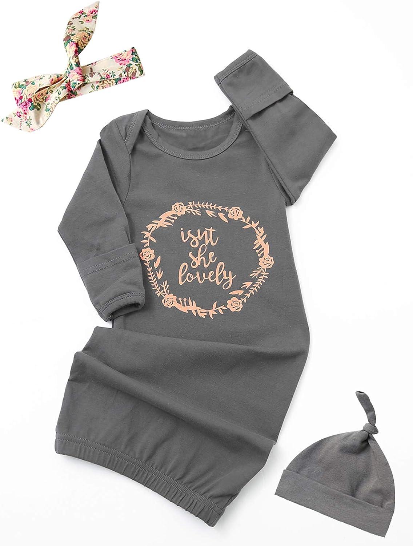 Dramiposs Baby Girl Sleeper Baby Coming Home Nightgown Newborn Girl Sleeping Bag