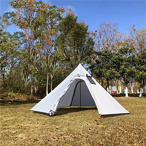 Tienda de campaña ultraligera para 3 – 4 personas, gran pirámide tienda de campaña con agujero para chimenea, refugio para observar aves y cocinar