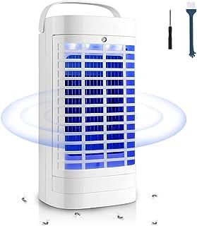Qxmcov Lámpara Anti Mosquitos Electrico, 5W Luz UV Mata Mosquitos Aspirante Interior, Lámpara R...