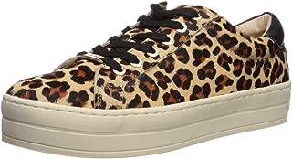 JSlides Women's Hippie Sneaker, Leopard Pony Leather, 6 Medium US