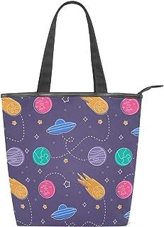MALPLENA Cosmic UFO Planet Schultertasche für Damen Arbeitstasche