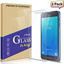 [2-Pack] Samsung Galaxy J2 Core/ J2 (2019)/ J2 Pure Tempered Glass Screen Protector, Zeking 0.33mm 2.5D Edge 9H Hardness [Anti Scratch][Anti-Fingerprint] Bubble Free, Lifetime Replacement Warranty