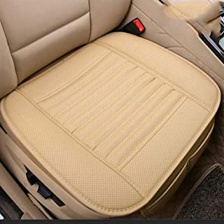 AMERTEER Breathable Car Interior Seat Cover Cushion Pad Mat for Auto Supplies Office Chair with PU LeatherFour Seasons Ge...