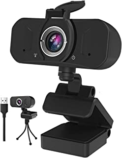 Gemwon 1080P Webcam with Built-in Microphone & Privacy Cover, 360 Degree Rotation, Plug and Play, 110 Degree Wide View, Fu...