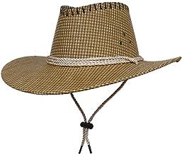 VPbao Cowboy Hoed Mannen Wol Vilt Western Outback Gambler Brede Brim Verstelbare Maten Crushable