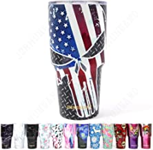 Jormungand Tumbler 30oz Stainless Steel Vacuum Insulated Travel Mug with Lid of Straw Friendly Double Wall Coffee Cup Skull Flag