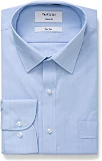 Van Heusen Men's Classic-Relaxed Fit Fine Stripe Business Shirt