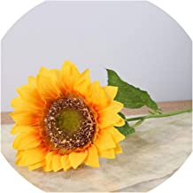 10Pcs/Set Artificial Sunflower Artificial Flower Silk Flower Fake Plant for Wedding Home Party Decoration,10Pcs Yellow