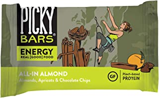 Picky Bars All-In Almond Real Food Energy Bars - Vegan, All Natural, Gluten-Free (10 Pack)