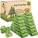 MAISITOO Sacchetti igienici per cani, 600 pezzi/30 Rotoli Sacchetti per Escrementi per Cani Dog Poop Dog Sacchetti di rifiuti con Dispensers, Extra Spesso a Prova di perdite Dog Poo Bags