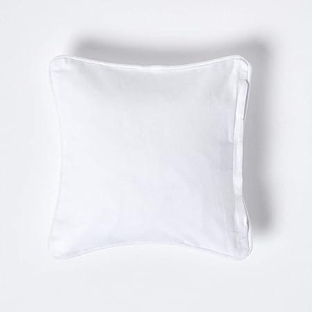 Homescapes 100/% Cotton Plain Cushion Covers Square Rectangular Washable