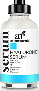 ArtNaturals Anti-Aging Hyaluronic Acid Serum - (1 Fl Oz / 30ml) - for Face Clinical Strength with Vitamin C Serum, Vitamin E - Helps Reduce Wrinkles for Youthful and Radiant Skin - 1 oz.