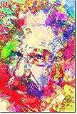 TPCK Albert Schweitzer Kunstdruck Colourburst Hochglanz Foto Poster Plakat Philosopher - Maße: 30 x 20 cm