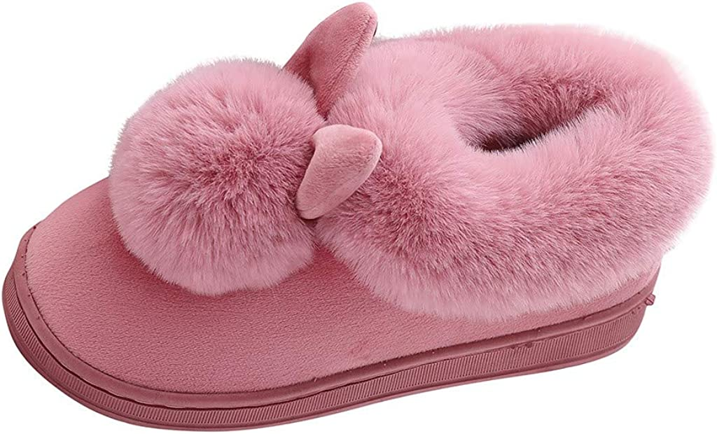 Women's Cute Rabbit Animal Slippers House Slippers Warm Memory Foam Cotton Cozy Soft Fleece Plush Home Slippers Indoor Outdoor