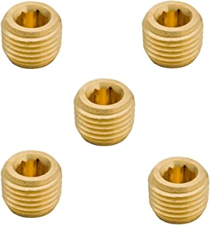 """Legines Brass NPT Plug 1/2"""" Male Hex Socket Drive Countersunk Plugs Pipe Fitting (Pack of 5)"""