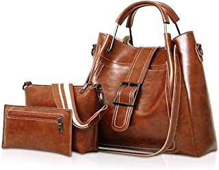 NICOLE & DORIS Art und Weisefrauen PU-Leder-Handtasche  Schultertasche  Geldbeutel 3pcs Beutel-Tasche für Mädchen