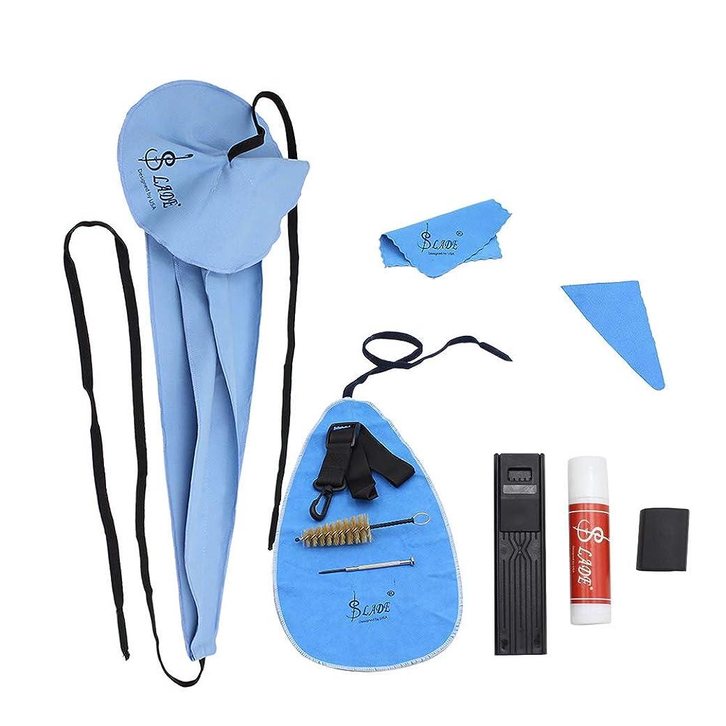 歩行者鎮静剤光景RaiFu サックス用 クリーニングキット お手入れ 10点セット クリーンクロス マウスピースブラシ ベルト スクリュードライバー サクソフォンアクセサリー