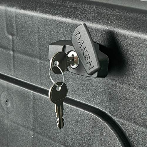 Deichselbox Daken Blackit L 750x300x355mm inkl. Vertikal Halter Werkzeugkasten Anhänger Staukiste - 2
