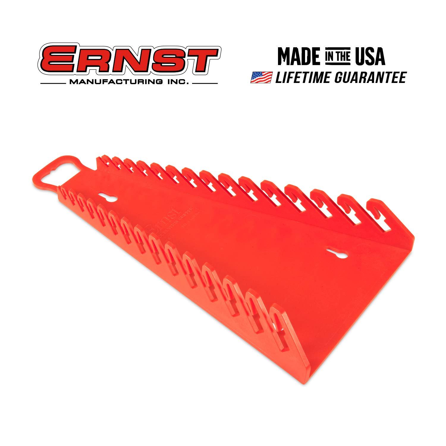 Ernst Manufacturing 5188-Red Gripper Reverse Wrench Organizer, 15 Tool, Red