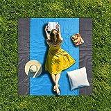 Couverture de tapis de plancher multifonctionnel, couverture étanche de pique-nique extérieure 80 * 80 pouces, tapis anti-sandbag pliant léger, tapis de plage de nylon durable, propice au camping de p