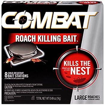 Combat Roach Killing Bait Large Roach Bait Station Kills the Nest Child-Resistant 8 Count